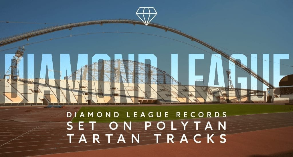 Diamond League records set on Polytan tartan tracks