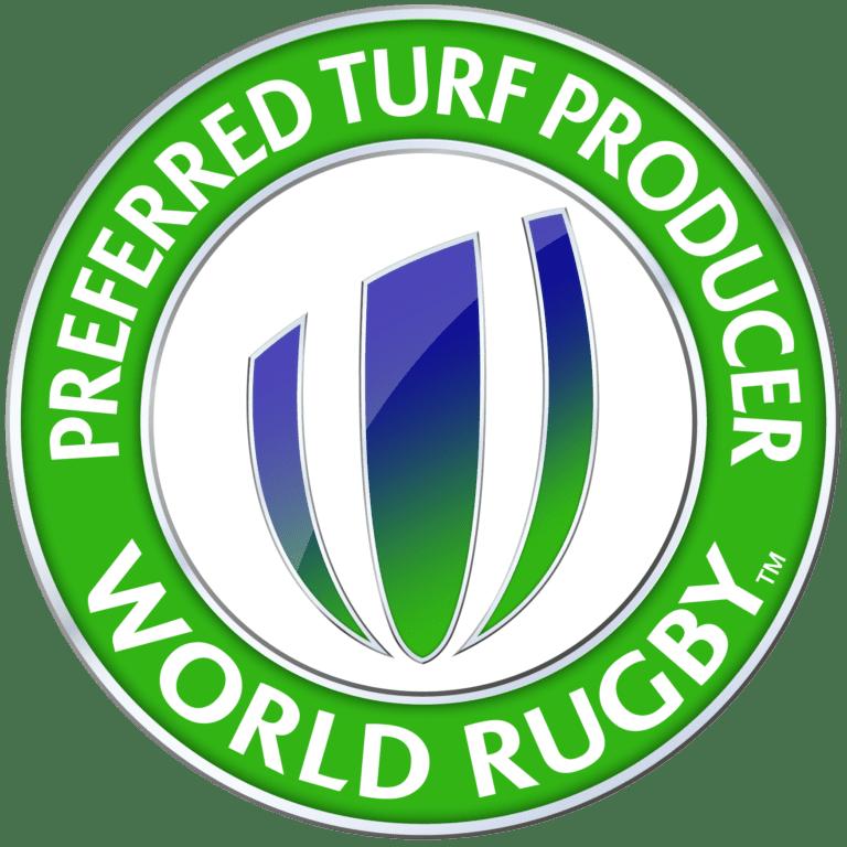 World Rugby Siegel - Bevorzugter Hersteller Kunstrasen
