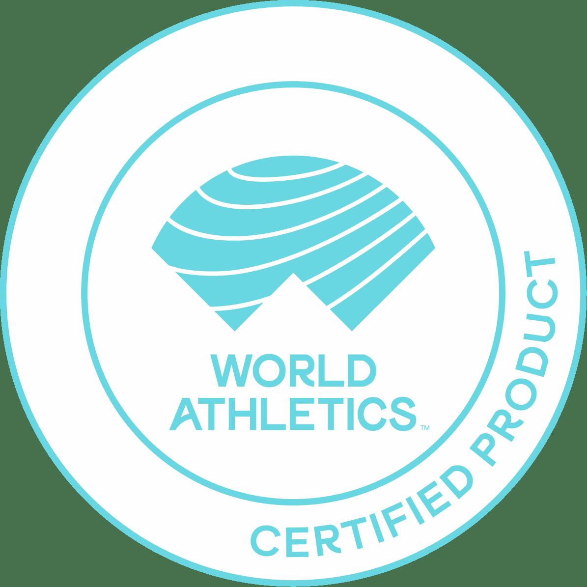 World Athletics Siegel - Zertifiziertes Produkt