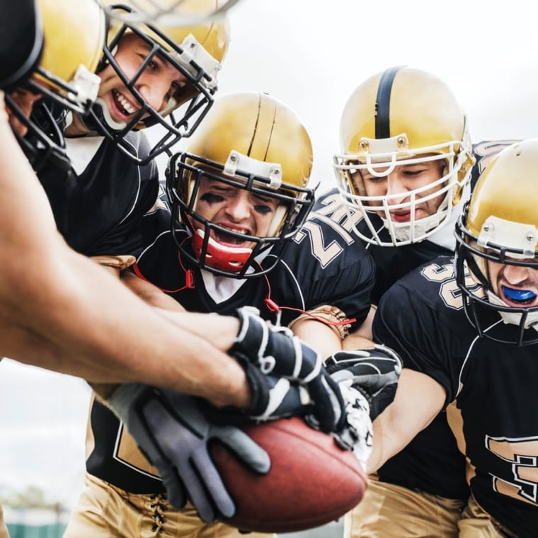 American Football on synthetic turf