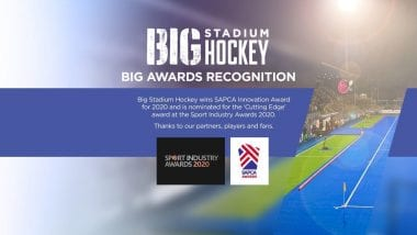 Big Stadium Hockey Wins SAPCA Prize and Shortlisted for Cutting Edge Sports Industry Award