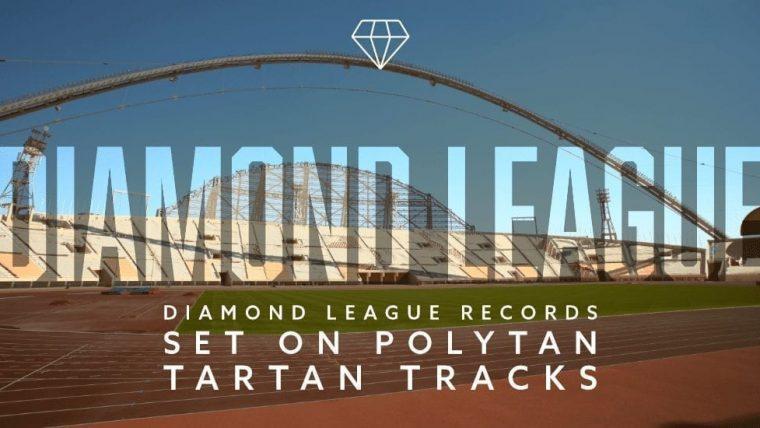 Diamond League records set on Polytan tartan tracks