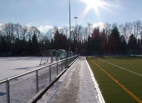 Hockey pitch with turf heating system, Grünwald leisure park