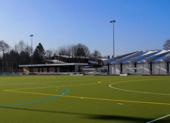 Hockey pitch with turf heating system, Grünwald leisure park