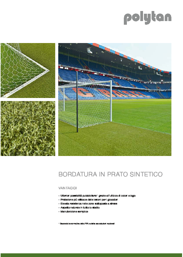 Synthetic turf around the pitch