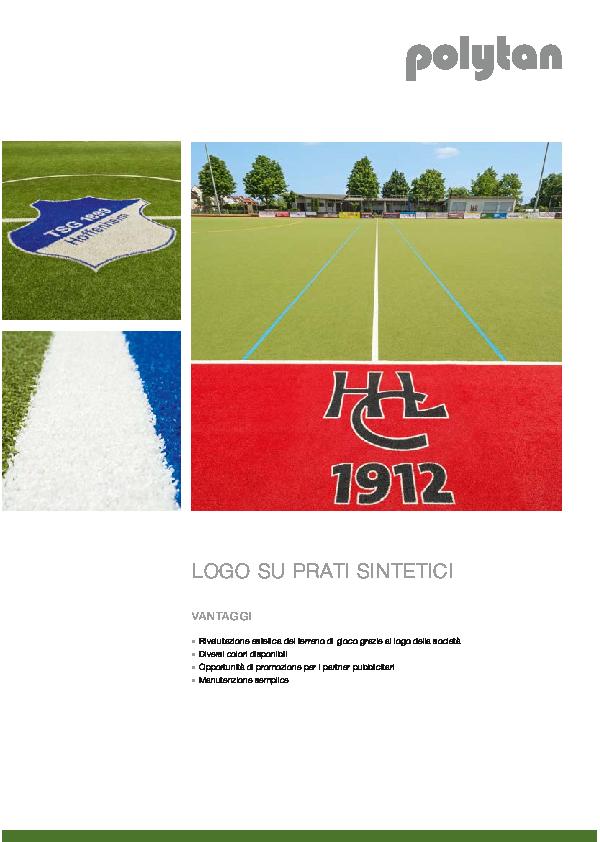 Logos on synthetic turf
